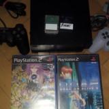 Consola PlayStation 2 Sony Modat cu 2 controlere+2 carduri & jocuri