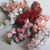Lot de 72 flori de hartie mulberry trandafiri cocarde decoratiuni artificiale