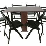 Set masa pliabila Practic 6 scaune