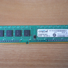 Memorie Crucial 4 GB 1600Mhz DDR3 Desktop. - Memorie RAM