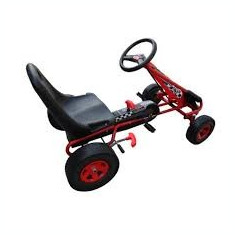 Go Kart pentru copii F1 gun 90255, rosu cu scaun reglabil - Jucarii