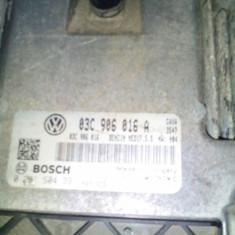 Unitate Control Motor VW Golf VI 1.4 TSI BOSCH cod: 03C 906 016 A (OE) - ECU auto Bosch, Volkswagen
