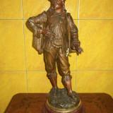 Superba statueta antica perioada anilor 1900 inceput din antimoniu - Sculptura