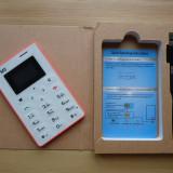 Telefon mobil AIEK M5 - cel mai mic din lume ALB/ROZ. NOU!, <1GB, Neblocat, Fara procesor, Nu se aplica