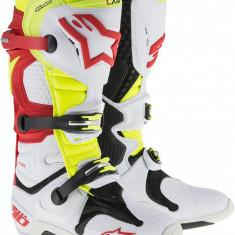 MXE Cizme motocross Alpinestars Tech 10 culoare Alb/Rosu/Galben Cod Produs: 34101503PE