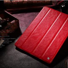 Husa/toc LUX piele fina HOCO Crystal, iPad 2 / 3 / 4, smart cover, ROSU - Husa Tableta