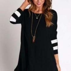 Rochie noua ZARA, tip tunica, neagra, marime M-L - Rochie de zi Zara, Culoare: Negru