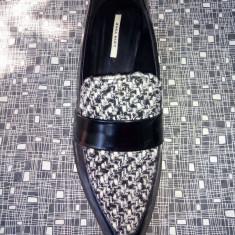 Pantofi ZARA - Pantof dama Zara, Marime: 38, Culoare: Negru