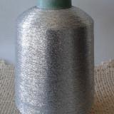 Fir lurex argintiu pentru tricotat, crosetat si brodat - Fire