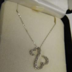 Colier aur alb diamante KAY JEWELERS - JANE SAYMOUR - OPEN HEARTS, 24k